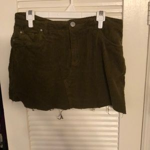 green corduroy uo skirt